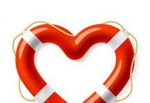 Reddingsboei in hartvorm