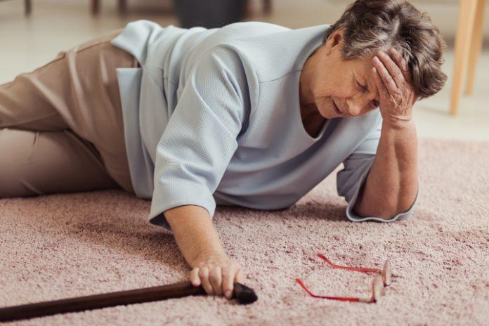 Parkinsonpatiënt die is gevallen
